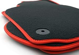 Tapis de sol pour volkswagen golf 6 gTI original tapis velours qualité tuning auto noir)