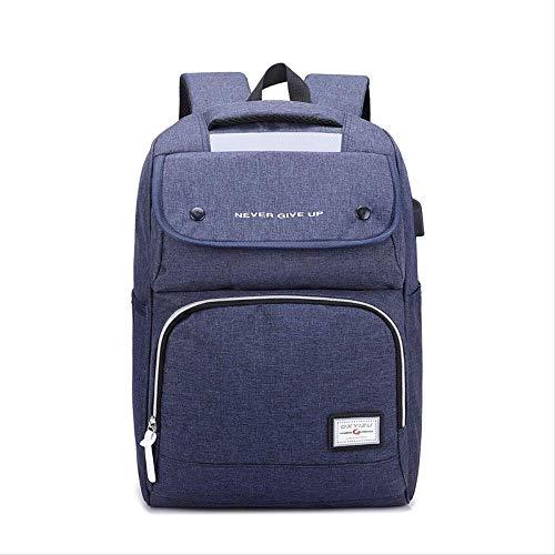 Herren Business Notebook Schultertasche, Jugend großen Rucksack, Fahrradtasche, Wandern Campingtasche, Sport Bi-Schultertasche blau