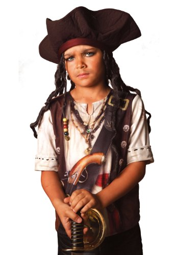 Cesar B063-001 - T-Shirt Pirat 3-4 (Captain Jack Sparrow Kostüm Kinder)