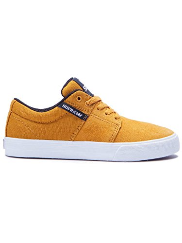 Enfants Chaussures de skateboard Supra Stacks Vulc II Skate Shoes Boys amber gold/white