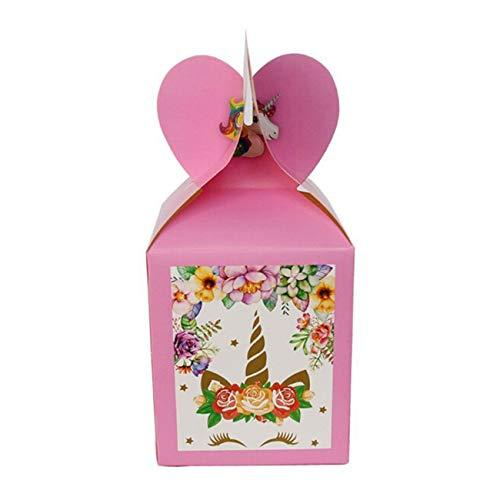 Bigsweety 6 Stücke Unicorn Candy Treat Boxen Süßigkeiten Container Für Babydusche Geburtstag Unicorn Theme Party Supplies