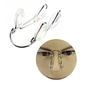 Jaron Adjustable Stainless Steel Nose Lifting & Shaping Clip With Silicone Padding For Adults