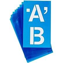 """Alfabeto Stencil maiuscolo 100mm-Helvetica 4"""""""