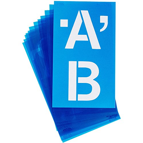 Acme Plastic Alphabet Stencils -Helvetica Capital Letters 4-inch Test