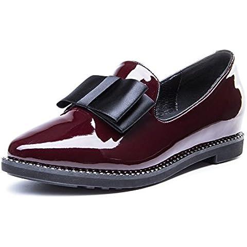 Primavera moda in pelle scarpe/Bow scarpe/ punta diamante luce scarpe