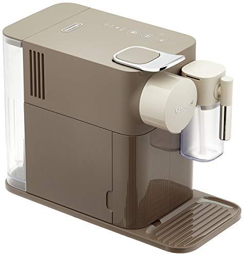 Nespresso De'Longhi Lattissima One EN500BW - Cafetera monodosis de cápsulas Nespresso con depósito de leche compacto, 19 bares, apagado automático, color moccha marrón