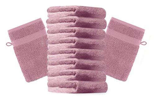 Betz 10er Pack Waschhandschuhe Waschlappen Größe 16x21 cm Kordelaufhänger 100% Baumwolle Premium...