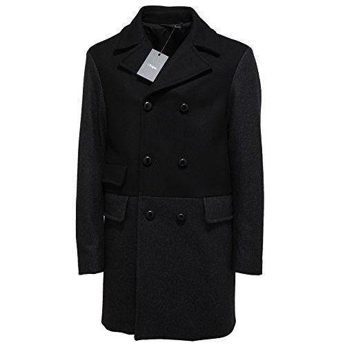 9062L cappotto uomo nero grigio ERMENEGILDO ZEGNA lana jackets men [L]