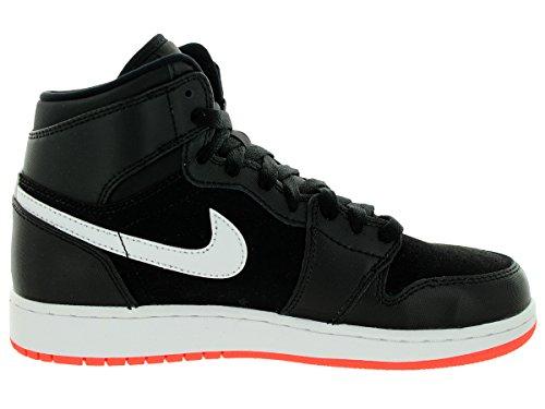 Nike Mädchen Air Jordan 1 Retro High GG Laufschuhe Schwarz / Rot / Weiß (Schwarz / Hot Lava-weiß)