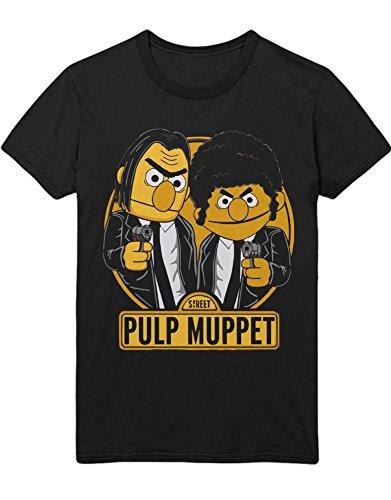 T-Shirt Vincent Vega Jules Winnfield Mashup C123458 Schwarz XXXL (Herren Gonzo Kostüm)