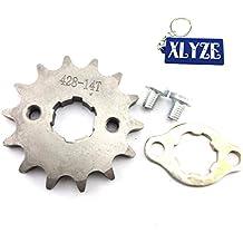 XLYZE 428 14 Dientes 20mm Engranaje del piñón delantero del motor para 50cc 70cc 110cc 125cc