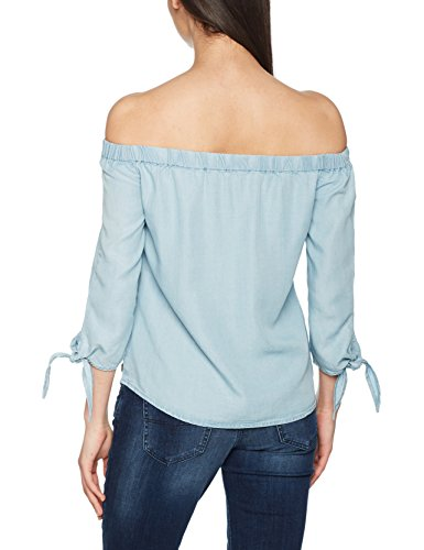 ONLY Damen Bluse Blau (Light Blue Denim)