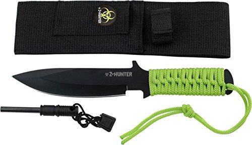 Hunter z Cuchillo de caza, longitud total cm: 22,86, Verde Cord gewickelter Mango, zhun de 1137