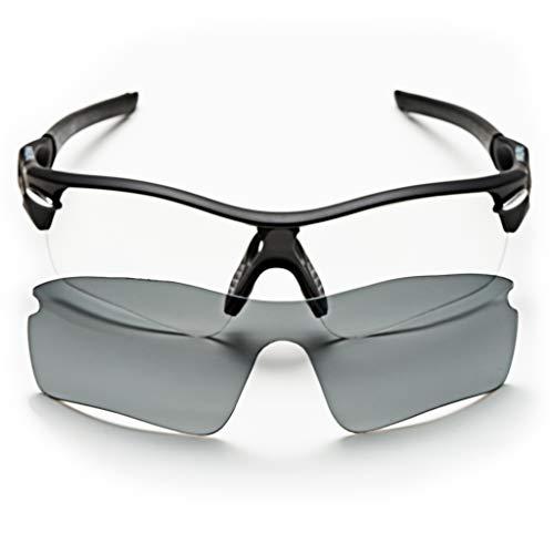 sunglasses restorer Gafas Ciclismo Fotocromaticas Modelo Angliru para Hombre y Mujer, Extra Lente Gris Polarizada