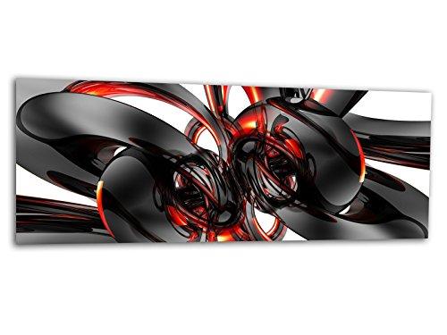 KD Acryl XXL Glasbild AG312500294 MURAL CHROME STYLE SCHWARZ 125 x 50 cm/WANDBILD Deco Glass/Handmade - Art-glas-panel