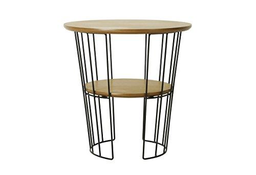 Josefine 10686-04 Table Basse Ø50 Bois Beige 50 x 50 x 50 cm