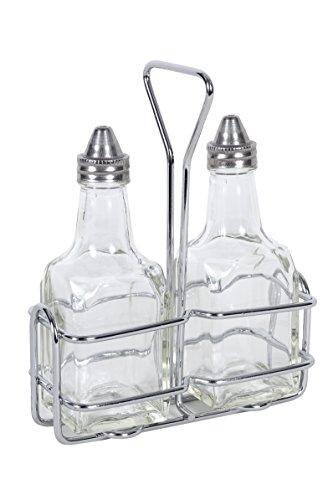 cucinaprime Öl und Essig Essig Flaschen 6Unze Flaschen mit Rack Set - Top Cruet