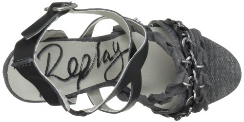 REPLAY - Sare, Sandali Donna Nero (Schwarz (Black))