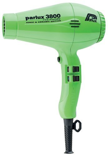 Parlux 3800 Ceramic and Ionic Edition Eco Friendly Hair Dryer Lime by Parlux