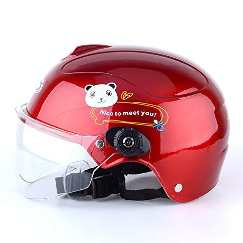 XuBa - Casco de Moto para niños y niñas, Transpirable, Resistente al Viento, Repuesto para Verano