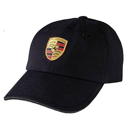 Porsche schwarz Crest Logo Cap, offizielles Lizenzprodukt