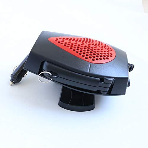 SLONG Calefactor De Automóvil Defogginger Defroster 12V 24V Calentador De Calefacción Vehículo Portátil Pequeño Electrodoméstico,Red,24V