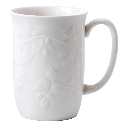 Wedgwood 40011481 A Single Becher, Wild Strawberry White Wedgwood Strawberry