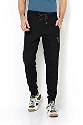 Van Heusen Mens Cotton Track Pants (8907670819876_50044_BLACK_S)