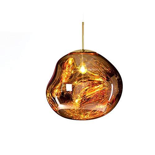 Tecnolygy Lava Pendelleuchten Tom Dixon Melt Acryl Transparent Pendelleuchte Klassische Originalität Hängelampe für Salonlampe Kitchen Island Theke Esszimmer,Gold,15.7in