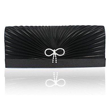 pwne Handtasche Matt Seide Abend Handtaschen/Kupplungen/Mini-Bags Black