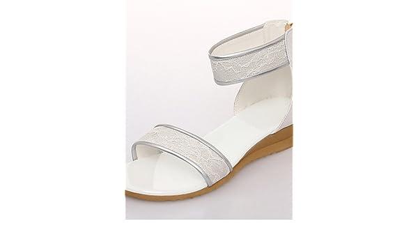 Femme Habillé Chaussures Décontracté Noir Beige Talon Blanc WEYHID29
