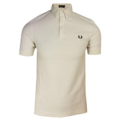 Fred Perry Polo Shirt Mens Ecru Oxford Collar Pique TOP