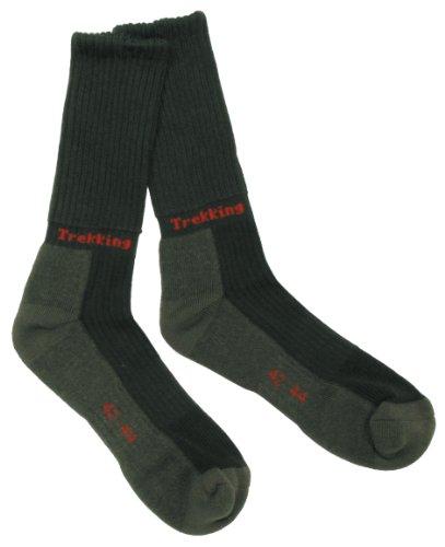 MFH paire de chaussettes chaussettes de trekking lusen dessous en éponge unisexe Vert Vert olive 39-41