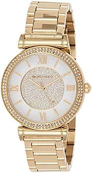 Michael Kors Women's Catlin Gold-Tone Watch Mk3332, Analog Dis