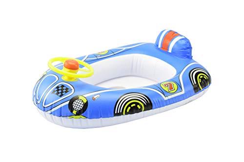 Phone Star Gummiboot für Kinder Schlauchboot aufblasbares Pool & Strandboot mit Lenkrad und Hupe in blau
