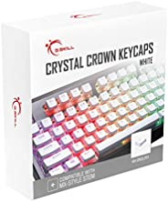 G.SKILL Crystal Crown Keycaps - Keycap Set with Transparent Layer for Mechanical Keyboards, Full 104 Key, Stan