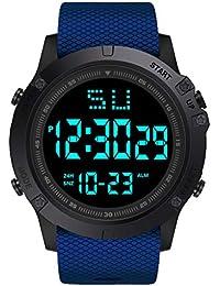 Reloj De Cuarzo,Reloj Distinguido A Prueba De Agua De La Vida De Cristal Azul