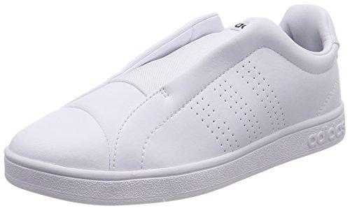 adidas Advantage Adapt, Baskets Femme, Bianco (Footwear White/Footwear White/Bold Green)