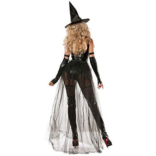 TIANFUSW Disfraz de Bruja para Mujer, Disfraz de Bruja Sexy de Halloween, Medium
