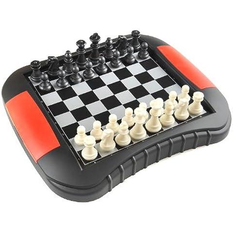 Monaco Magnetic Series: Juego de ajedrez y damas, 2 - en-1, juego de mesa magnético, Tamaño Medio: Dimensiones 27,2 x 23,7 x 3,5 cm, Mod. SC9618 DE