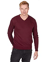 Pierre Roche Men's Long Sleeve V Neck Jumper Sweater Pull Over Sizes L-2XL