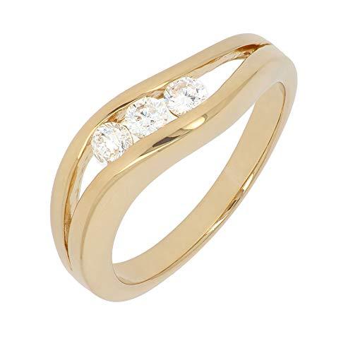 ISADY - Nuala Gold - Damen Ring - 18 Karat (750) Gelbgold - Zirkonia