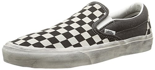 Vans U Classic Slip-On Overwashed, Baskets Basses Mixte Adulte Noir (Overwashed/Black/Check)