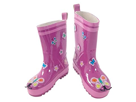 Kidorable Original Branded Butterfly Wellington Boots for Kids, Girls, Boys (6 UK)