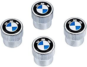 4Pcs Chrome Groove Style Detailed Air Valve Caps Fits for BMW All Series