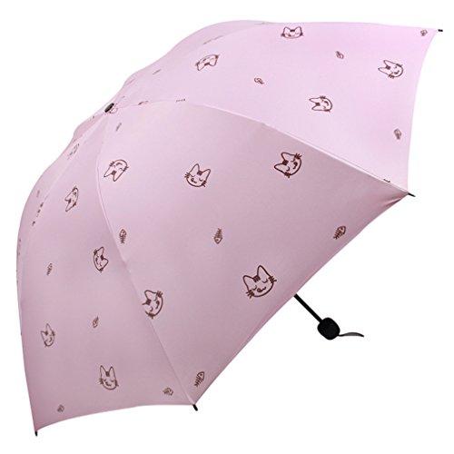 GuokeSonnig Regen Zwei Klappen Mit Drei Grossen Auto Weiblich Sonnenschutz Solar Uv-Licht Pocket Kleine Roman-Mittel Regenschirm, Und Farbe