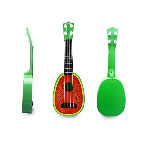 One Pack 4 Corde Mini Ukulele Chitarra Sviluppo Strumento musicale Frutta Stile Giocattolo per bambini Regalo Forma di anguria Ukulele Istruzione Strumenti musicali L Taglia