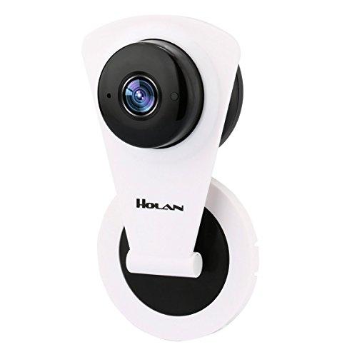 Cámara Ip, Holan H.264 1280 x 720p Cámara IP de Vigilancia,WIFI Inalámbrico Cámara IP con Vision Nocturna+Detección de movimiento+De dos vías Audio para Android y Sistema IOS