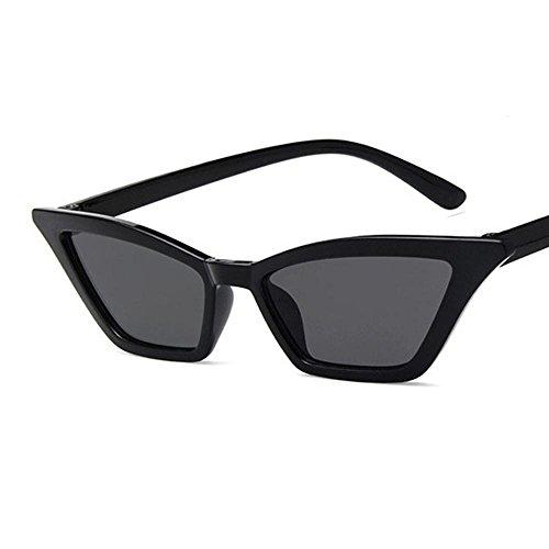 Gafas de Sol Polarizadas Konwa Vintage Gafas de Sol Cat Eye, Gafas de Sol Gafas Transparente Plastic Vintage Personalizada, Guía de Moda - Negro