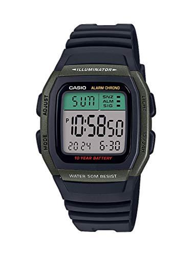 CASIO Herren Digital Quarz Uhr mit Resin Armband W-96H-3AVEF